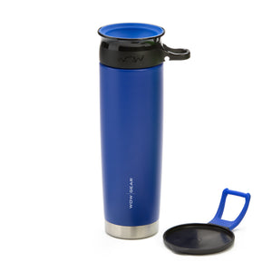 WOW GEAR 360° Double Walled Stainless Insulated Water Bottle - Blue, 22 OZ / 650 ML