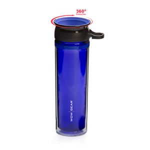 WOW GEAR 360° Double-Walled TRITAN™  Water Bottle - Blue, 20 OZ / 600 ml