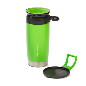 WOW GEAR Stainless Insulated 360 Sports Bottle - Green, 13.5 OZ / 400 ML