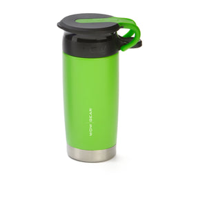 WOW GEAR 360° Double Walled Stainless Insulated Water Bottle - Green, 13.5 OZ / 400 ML