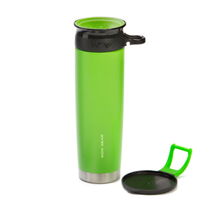 WOW GEAR 360° Double Walled Stainless Insulated Water Bottle - Green, 22 OZ / 650 ML