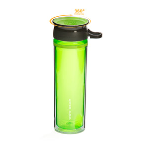 WOW GEAR 360° Double-Walled TRITAN™ Water Bottle - Green, 20 OZ / 600 ml