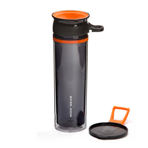 WOW GEAR 360° Double-Walled TRITAN™ Water Bottle - Orange, 20 OZ / 600 ml