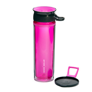 WOW GEAR 360° Double-Walled TRITAN™ Sports Bottle - Pink, 20 OZ / 600 ml