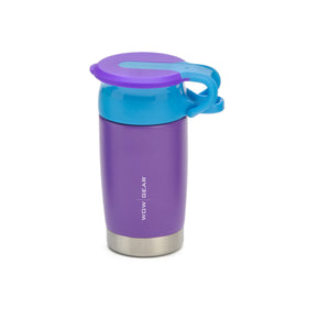 WOW Kids 360° Sports Water Bottle - Double Walled Stainless Insulated 300 ML / 10 OZ - Purple