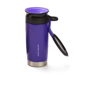 WOW GEAR Stainless Insulated 360 Sports Bottle - Purple, 13.5 OZ / 400 ML