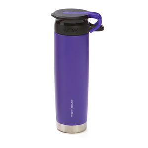 WOW GEAR 360° Double Walled Stainless Insulated Water Bottle - Purple, 22 OZ / 650 ML
