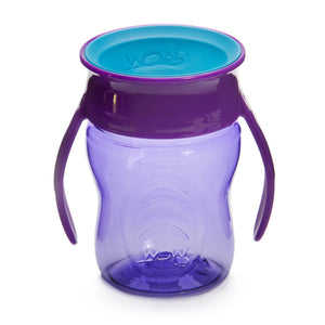 WOW CUP for Baby Transition Cup Purple / Teal Blue