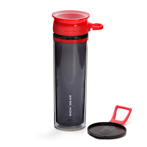 WOW GEAR 360° Double-Walled TRITAN™ Sports Bottle - Red, 20 OZ / 600 ml