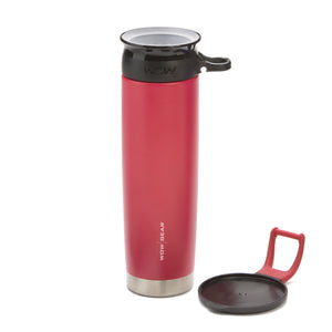WOW GEAR Stainless Insulated 360 Sports Bottle - Red, 22 OZ / 650 ML