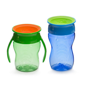 WOW CUP Stages Two-Pack - Blue Kids and Green Baby Cups