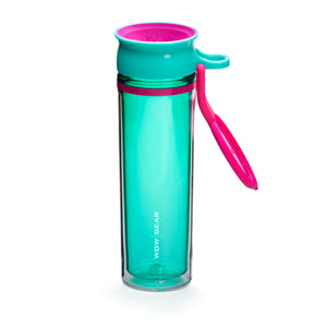 WOW GEAR 360° Double-Walled TRITAN™ Sports Bottle - Turquoise, 20 OZ / 600 ml