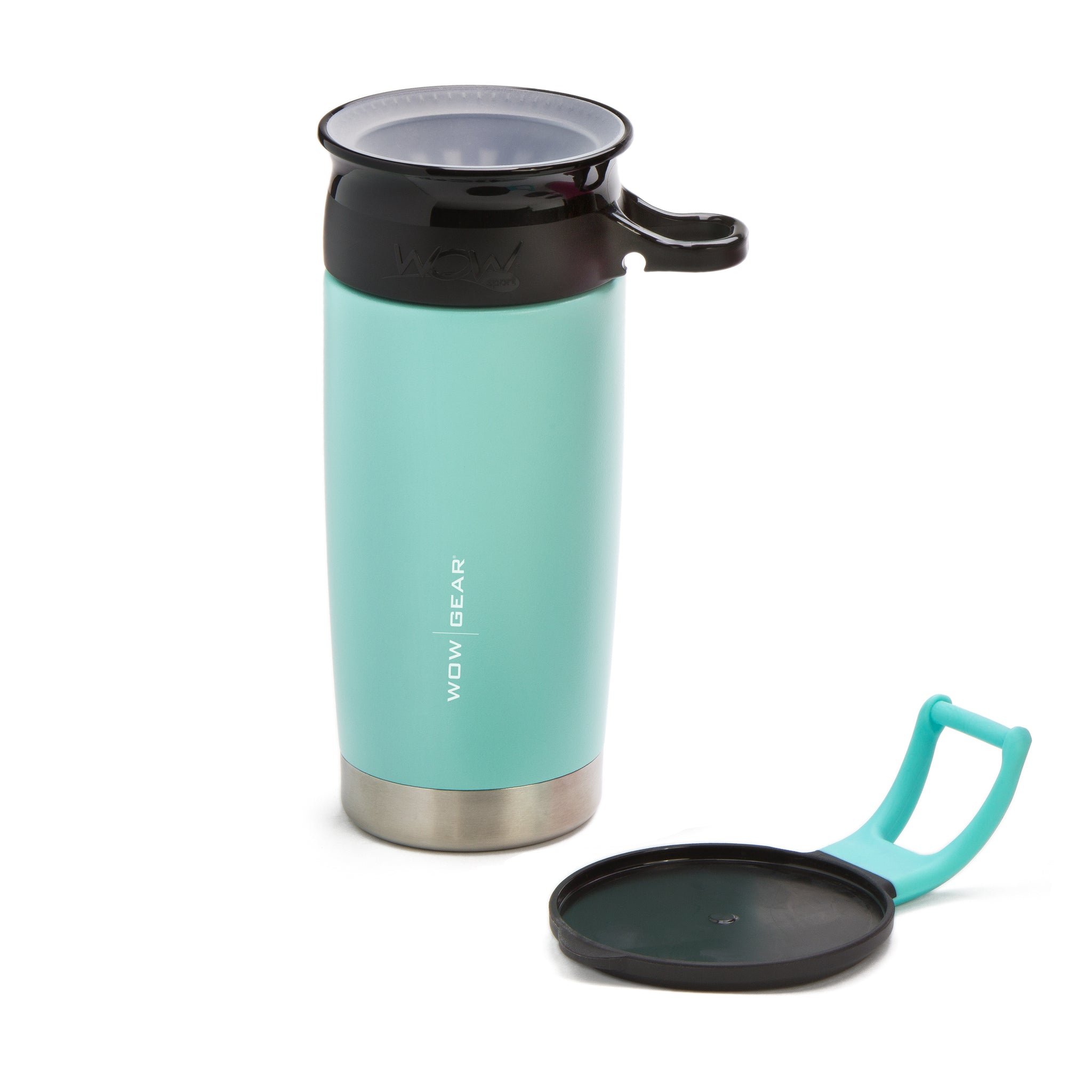 WOW GEAR Stainless Insulated 360 Sports Bottle - Turquoise, 13.5 OZ /