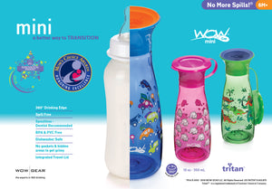WOW CUP Mini - Blue Cars, 12 oz/350 ml