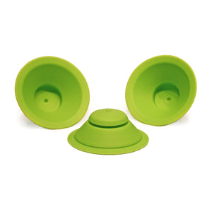 WOW CUP Silicone Valve Replacement 3-pack Green, 3-1/8 inch Diameter