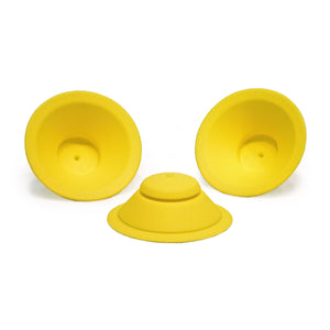 WOW CUP Silicone Valve Replacement 3-pack Yellow, 3-1/8 inch Diameter
