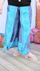 Jasmine skirt overlay wide leg upcycled silk trousers from the Boho Collection from Rock Those Frocks