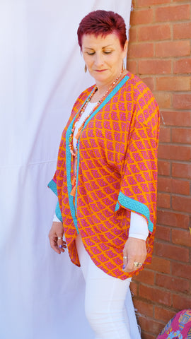 Zinnia upcycled kimono silk jacket from the Boho Collection by Rock Those Frocks