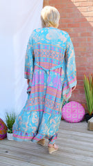 Zaria long upcycled silk wrap jacket from the Boho Collection by Rock Those Frocks