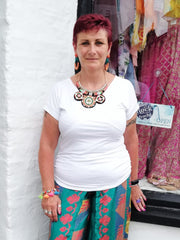 Primrose cap or mid sleeve wrap over top from the Boho Collection by Rock Those Frocks