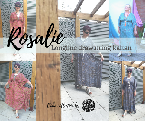 Rosalie longline drawstring kaftan from the Boho Collection by Rock Those Frocks