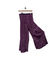 Load image into Gallery viewer, Jasmine - skirt overlay wide leg upcycled silk trousers