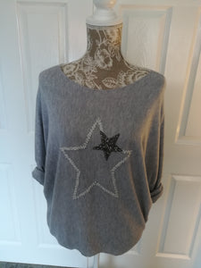 Pale Grey Star Top