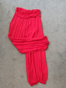 Red Harem Pants - one size 10/16 £15