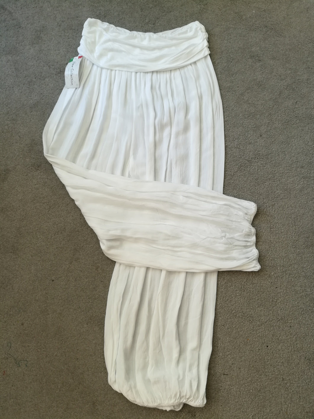 White Harem Pants - one size 10/18 £15