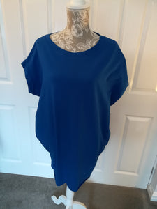 Electric Blue Slouch T Top with pockets - one sice 12/20 £18