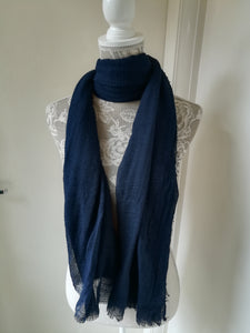 Plain Scarf - Navy - £8
