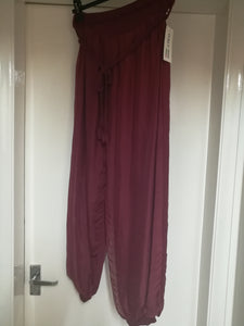 Italian Silk Trousers - one size 10/16 £25