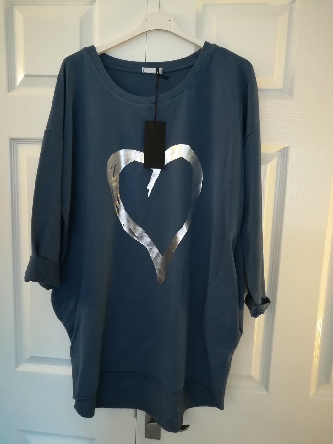 Denim Sweatshirt Top - one size 16/20 £30