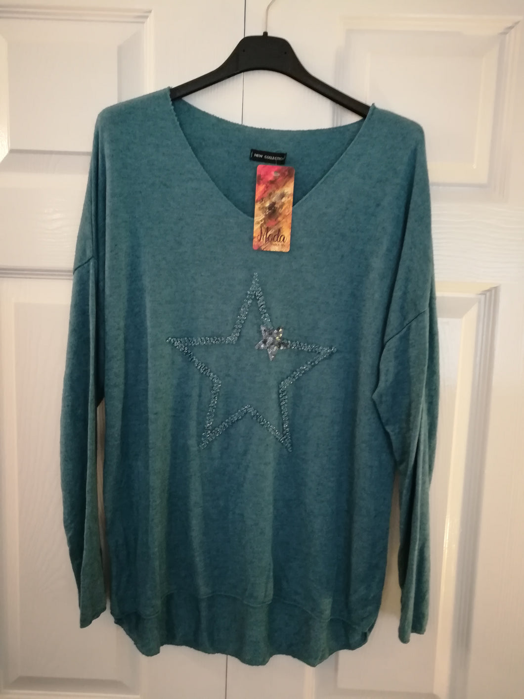 Teale light knit star top - one size 10/14 £27