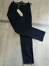 Load image into Gallery viewer, PINNS Super Stretch Slim Fit Bengaline Trouser size 10 Navy 348T
