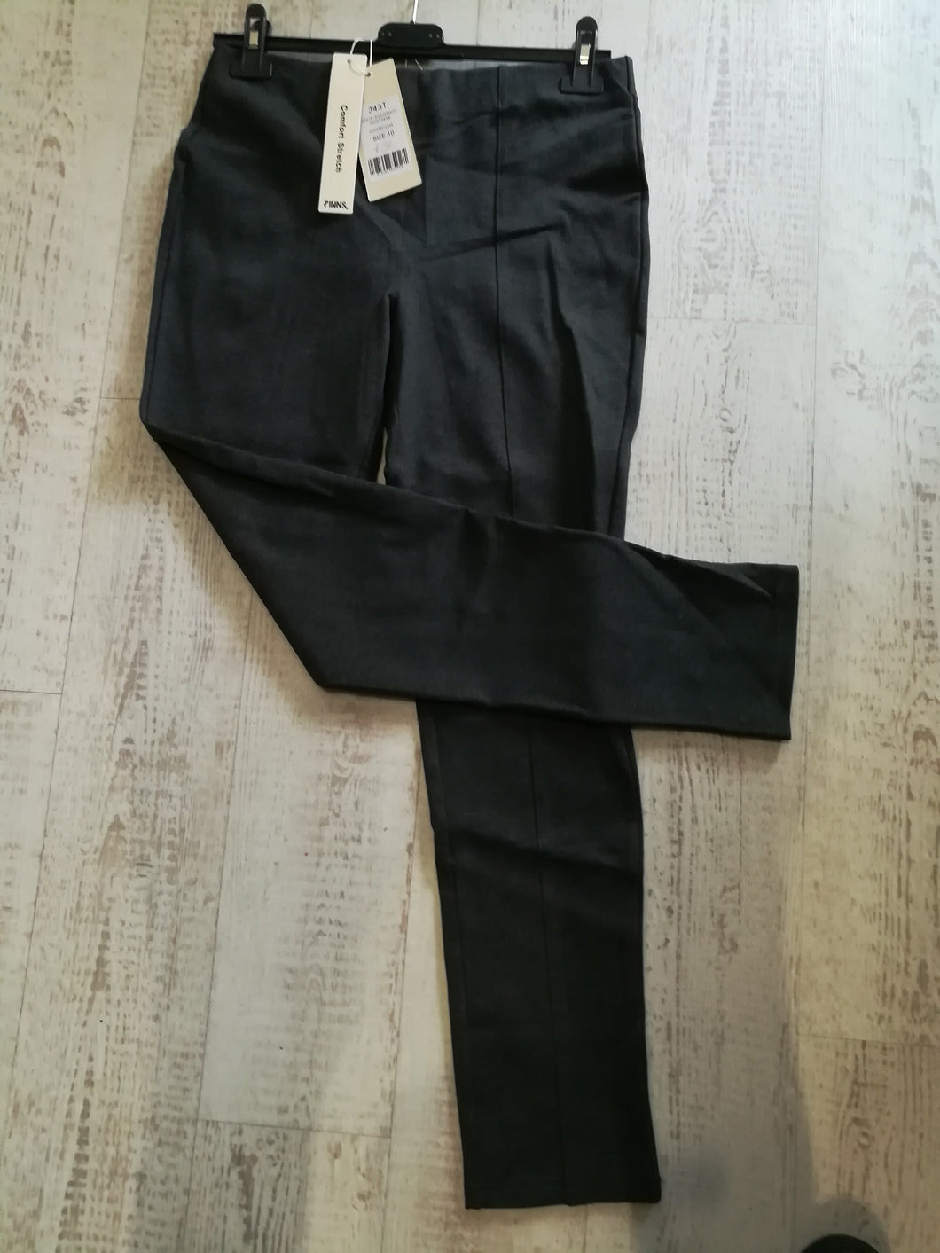 PINNS Trousers - Ponte legging with front seam - size 10 - Charcoal 343T SALE NO RETURN
