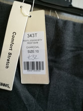 Load image into Gallery viewer, PINNS Trousers - Ponte legging with front seam - size 10 - Charcoal 343T SALE NO RETURN