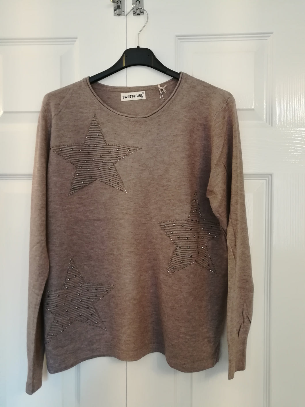Grey Sparkle Star Jumper one size 10/16 £30