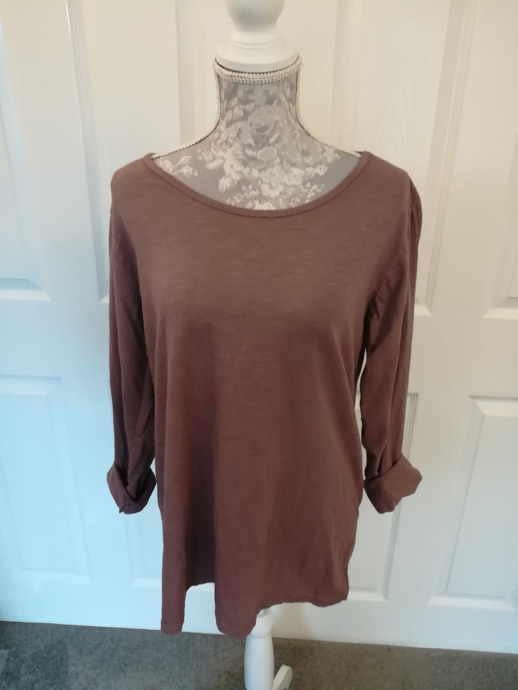 Plain Cotton Top - one size 10/14 £15