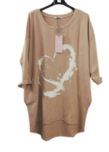 Load image into Gallery viewer, Heart Sweatshirt - one size 16/20 £25