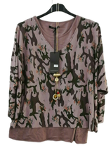 Load image into Gallery viewer, Two Part Top in Camo/Floral one size 12/16 £25