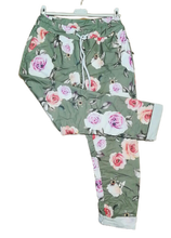 Load image into Gallery viewer, Rose Print Magic Trousers one size 10/16 £25