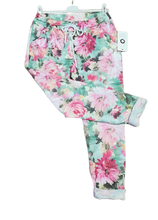 Load image into Gallery viewer, Spring Floral Magic Trousers one size 10/16 £25