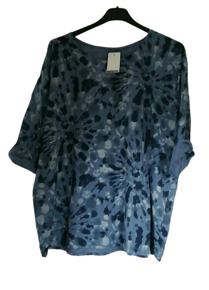 Splash Print Cotton Top one size to an 18 £20