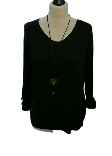 Light Weight Spring Knit V Neck Top one size 10/14 £25