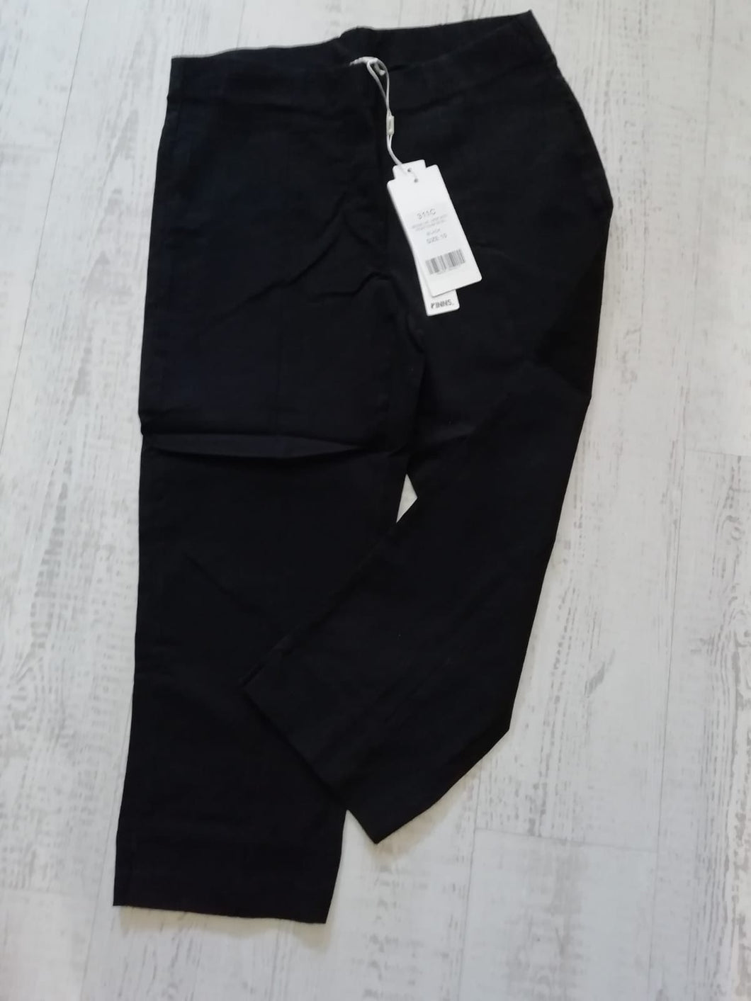 Pinns Black Crop Trousers - size 8