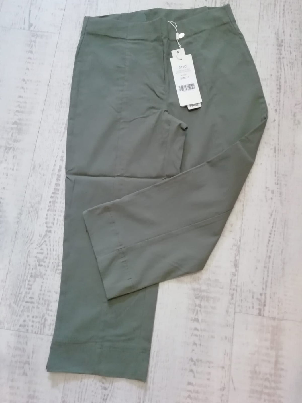 Pinns Khaki Crop Trousers - size 12