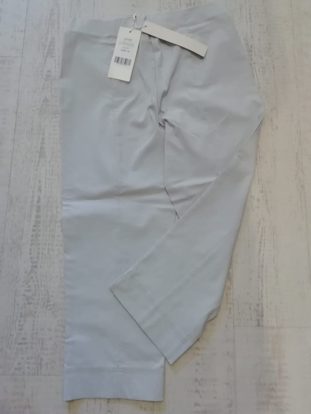 Pinns Silver Crop Trousers - size 10
