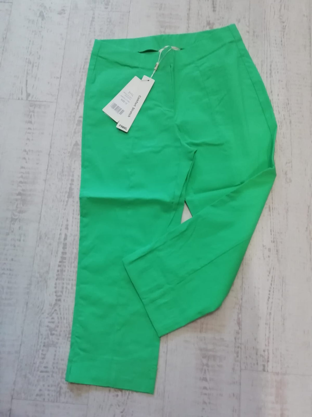 Pinns Bright Green Crop Trouser - size 14
