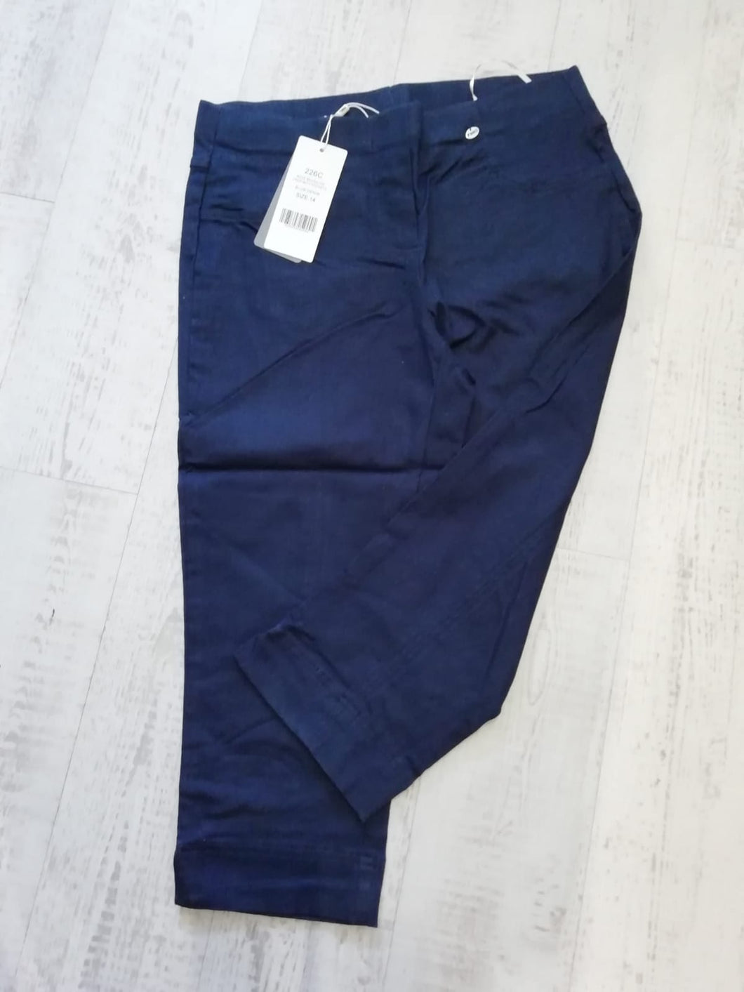 Pinns Navy Crop Trousers - size 8